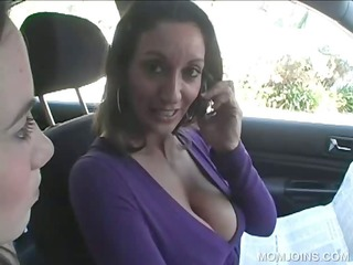 milf shows twat in 10some with daughter