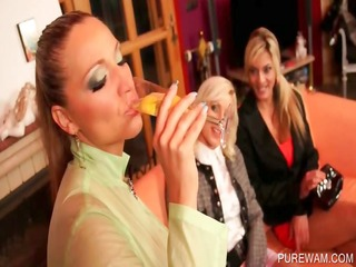 clothed lesbos get obscene in wam 0some scene