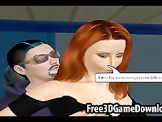 hot interracial lesbo pair in a 7d toon animated