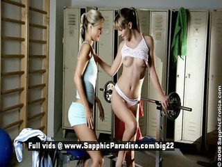cameron and sally muscular lesbo girl have sex in