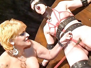 lesbo mmf tit whipping and girlie cruelty