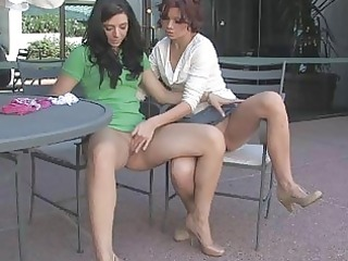 rita and madeline awesome lesbian babes kissing