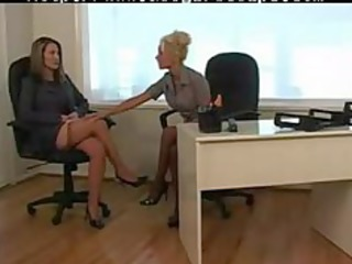 lesbian at the office 9 of 3 d06 lesbo gal on