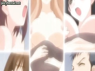 anime lesbos sharing a cock