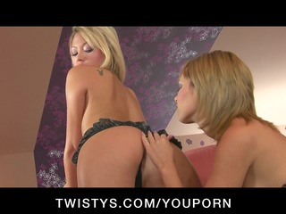 horny legal age teenager lesbo doxies engulf and
